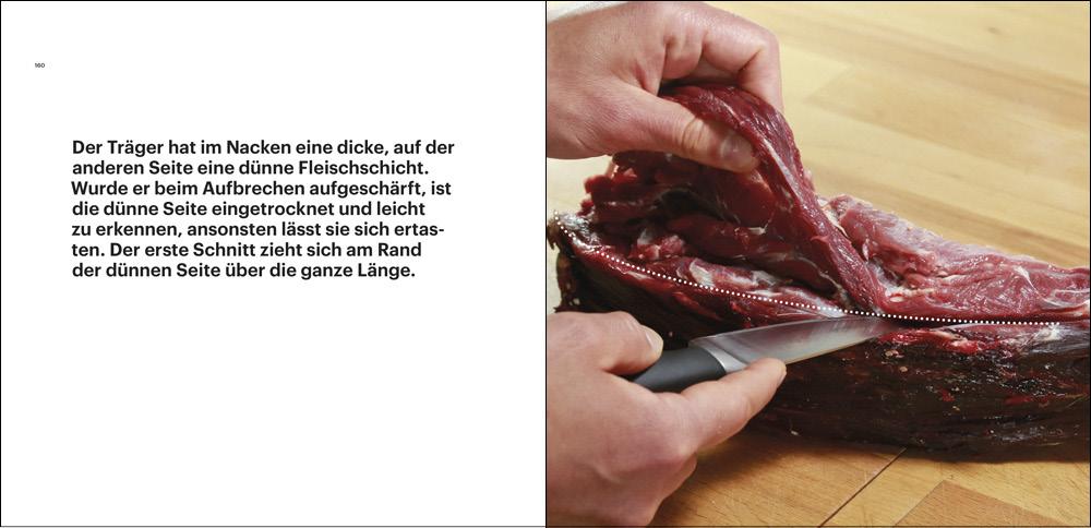 """Ausschnitt aus dem Buch """"Rehwild, vom Lebewesen zum Lebensmittel"""" von Fabian Grimm, Ausbeinen"""